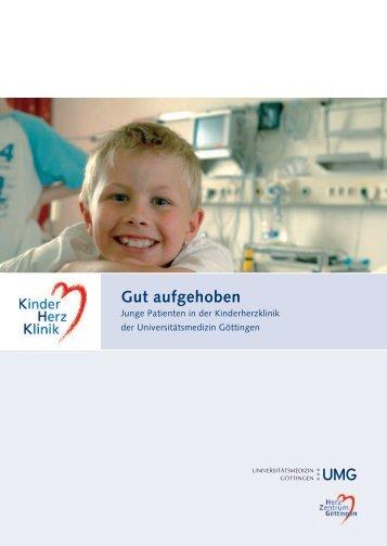 Broschüre Kinderherzklinik - Universitätsmedizin Göttingen