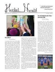 Volume 1, Issue 5 (June 2011) - The Heschel School