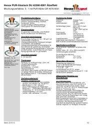 Hesse PUR-Glaslack DU 42260-0001 Ätzeffekt - Hesse Lignal
