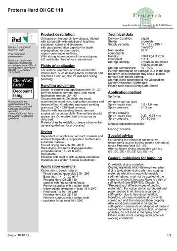 Proterra Hard Oil GE 110 - Hesse Lignal
