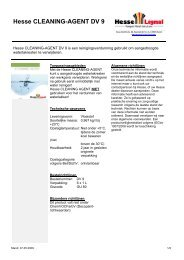 Hesse CLEANING-AGENT DV 9 - Hesse Lignal