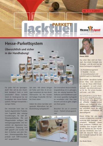 Parkett - Lacktuell, Ausgabe 1 - Hesse Lignal