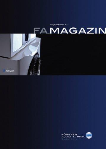 Magazin als PDF laden - FÖRSTER AUDIOTECHNIK
