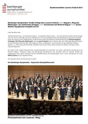 Sondernewsletter Luzern_Endversion - Bamberg Symphony Orchestra