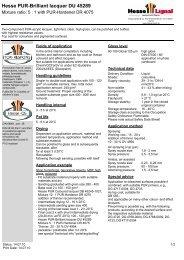 Hesse PUR-Brilliant lacquer DU 45289 - Hesse Lignal