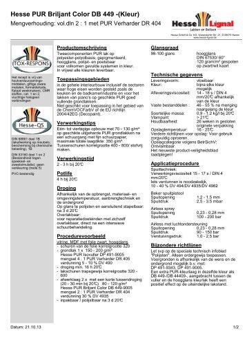 Hesse PUR Briljant Color DB 449 -(Kleur) - Hesse Lignal
