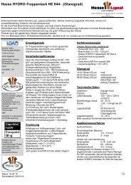 Hesse HYDRO-Treppenlack HE 644- .(Glanzgrad) - Hesse Lignal