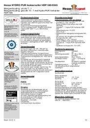 Hesse HYDRO PUR Isoleervuller HDP 540-9343 - Hesse Lignal