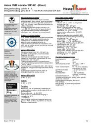 Hesse PUR Isovuller DP 491 -(Kleur) - Hesse Lignal