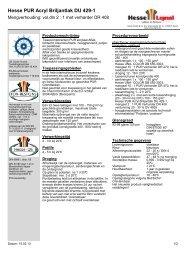 Hesse PUR Acryl Briljantlak DU 429-1 - Hesse Lignal