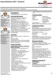 Hesse Relieflasur WR 1 -(Farbton) - Hesse Lignal