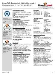 Hesse PUR-Überzugslack DU 51 x(Glanzgrad) -1 - Hesse Lignal