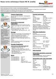 Hesse vernis cellulosique Classic NE 30 .(matité) - Hesse Lignal