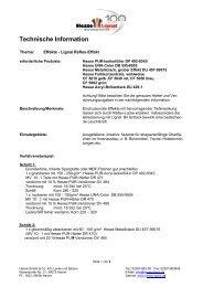 Techn nische Inform mation - Hesse Lignal