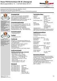 Hesse PUR-Schichtlack DE 48 .(Glanzgrad) - Hesse Lignal
