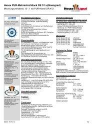 Hesse PUR-Mehrschichtlack DE 51 x(Glanzgrad) - Hesse Lignal