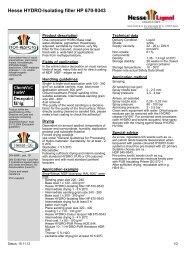 Hesse HYDRO-Isolating filler HP 670-9343 - Hesse Lignal