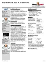Hesse HYDRO-TOP Siegel HE 60 x(Glanzgrad) - Hesse Lignal