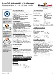 Hesse PUR-Schichtlack DE 4870 x(Glanzgrad) - Hesse Lignal