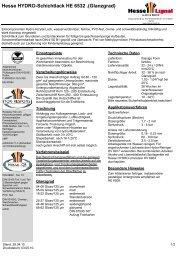 Hydro-Schichtlack HE 65324 - Hesse Lignal