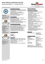 Hesse PUR-Acryl Brillantlack DU 429 - Hesse Lignal