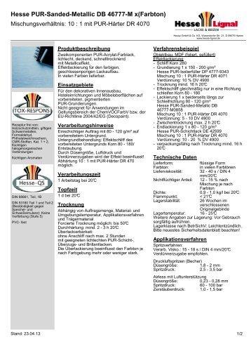 Hesse PUR-Sanded-Metallic DB 46777-M x(Farbton) - Hesse Lignal