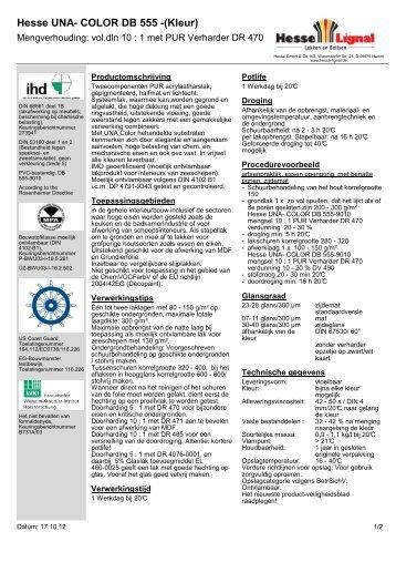 Hesse UNA- COLOR DB 555 -(Kleur) - Hesse Lignal