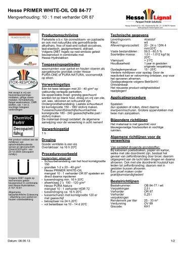 Hesse PRIMER WHITE-OIL OB 84-77 - Hesse Lignal