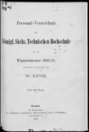Personalverzeichnis Wintersemester 1903/04
