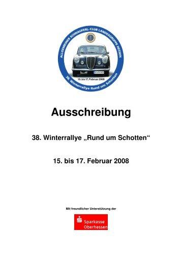 Ausschreibung 2008 Druckversion - Allgemeiner Schnauferl-Club ...