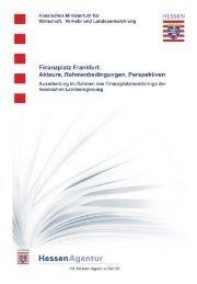 Finanzplatz Frankfurt: Akteure, Rahmenbedingungen, Perspektiven ...