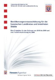 Bevölkerungsvorausschätzung für die hessischen Landkreise und ...