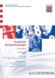 Hessischer Konjunkturspiegel 1/2011 - HA Hessen Agentur GmbH
