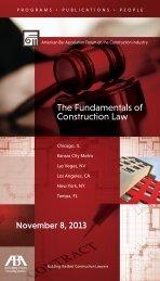 The Fundamentals of Construction Law - American Bar Association