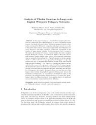 Analysis of Cluster Structure in Large-scale English Wikipedia ...