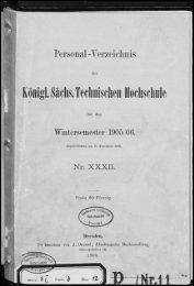 Personalverzeichnis Wintersemester 1905/06