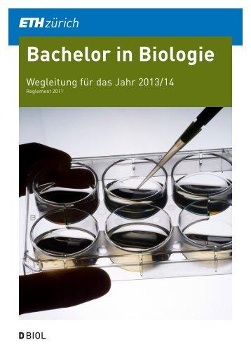 Wegleitung 2013/14 für den BSc-Studiengang Biologie ... - D-BIOL