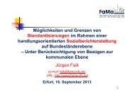 Möglichkeiten und Grenzen von Standardisierungen im Rahmen ...