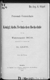 Personalverzeichnis Wintersemester 1907/08