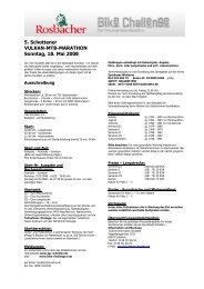5. Schottener VULKAN-MTB-MARATHON Sonntag, 18. Mai 2008