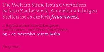 Kongressprogramm - Landesverband Hessen-Siegerland