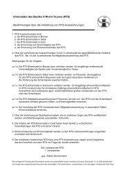 Ehrenstatut des Bezirks 8 Rhein-Taunus (RTS) Bestimmungen über ...