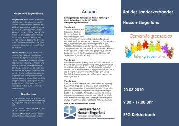Flyer zum RLV 2010 - Landesverband Hessen-Siegerland