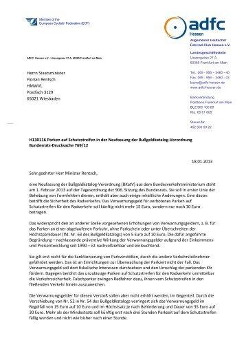 Diesen Brief als PDF herunterladen - ADFC Hessen