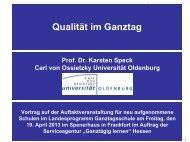 Hauptvortrag: Qualität im Ganztag, Prof. Dr ... - Ganztägig Lernen