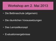 Lernzeitkonzept der Bettinaschule - Ganztägig Lernen - Hessen