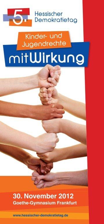 """Demokratietag Hessen"" 2012 als PDF - Demokratisch Handeln"