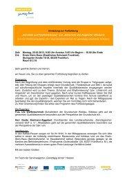 Einladung und Programm - Ganztägig Lernen - Hessen