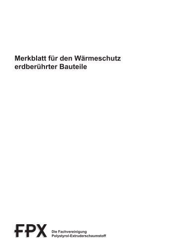 FPX-Merkblatt Perimeterdämmung: Pdf-Download - ENEV-Online.de