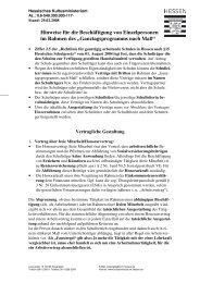 Hinweise Arbeitsrecht - Ganztägig Lernen - Hessen
